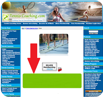 General Fitness Department, Main Page - Horizontal (Top)