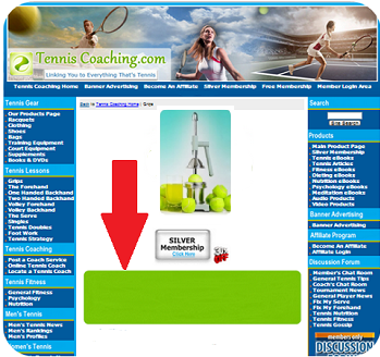 Tennis Nutrition Department, Main Page - Horizontal (Top)