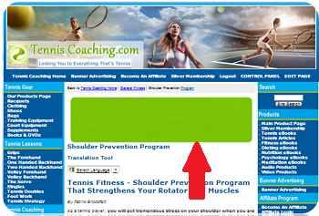 Tennis Fitness Department, Article Pages - Horizontal (Top)